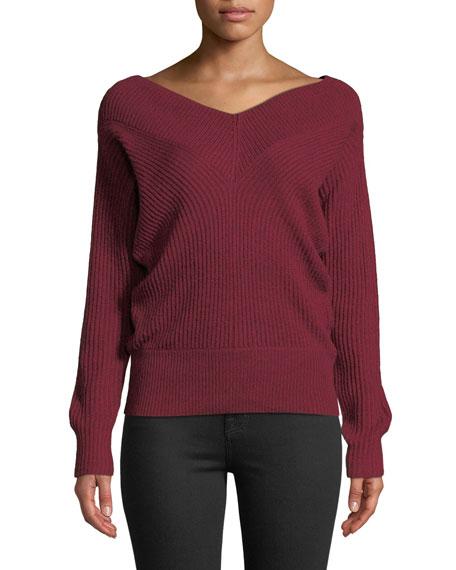 Club Monaco Sweaters Jemma Ribbed V-Neck Pullover Sweater