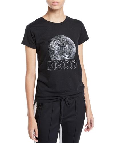Disco Ball Graphic Short-Sleeve Tee