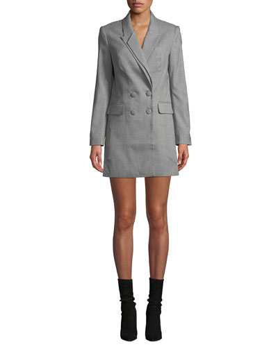 Nixon Double-Breasted Check Dress