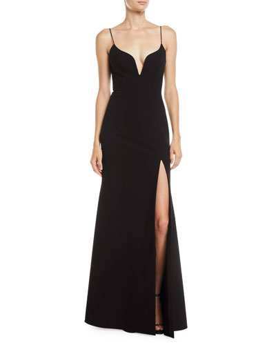 High-Slit Body-Con Gown