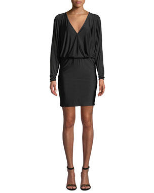 897f0f7ac2c Amanda Uprichard Thomas Long-Sleeve V-Neck Short Dress
