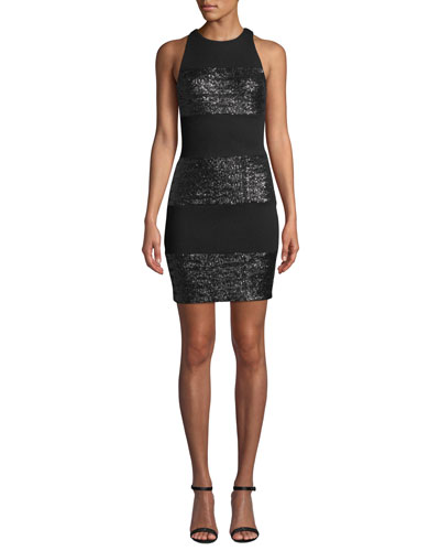 Do The Hustle Sequined Cocktail Dress