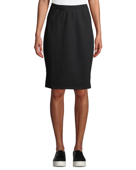 Eileen Fisher Organic Cotton Terry Pencil Skirt