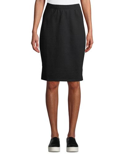 Organic Cotton Terry Pencil Skirt  Petite