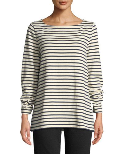 Seaside Striped Organic Cotton Sweater