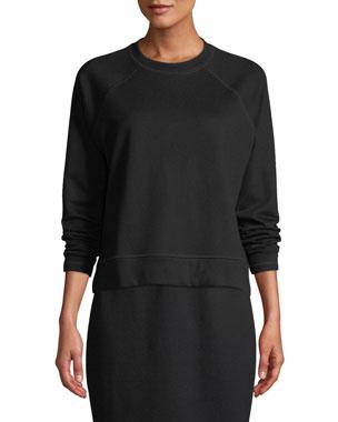 16f58d16ffdc4 Eileen Fisher Petite Organic Cotton Terry Long-Sleeve Top
