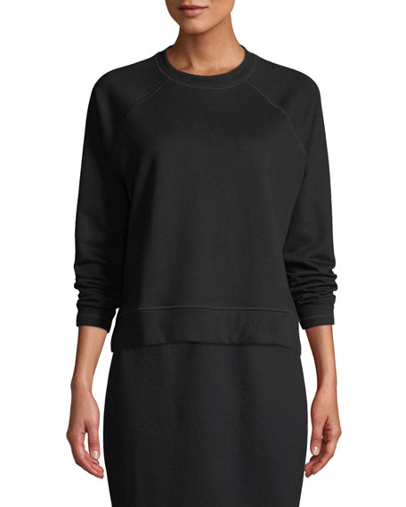 Eileen Fisher Organic Cotton Terry Long-Sleeve Top, Petite