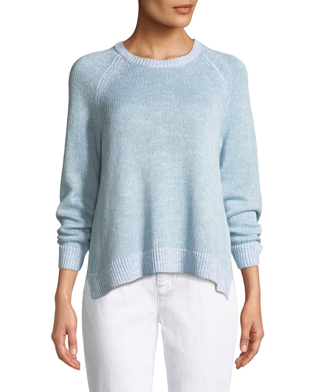 e3095146dad Eileen Fisher Plus Size Organic Linen Cotton Slub Sweater