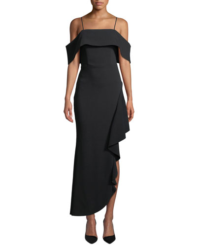 Ellen Off-the-Shoulder Asymmetric Dress