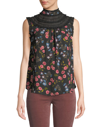 meadow lace-trim sleeveless top