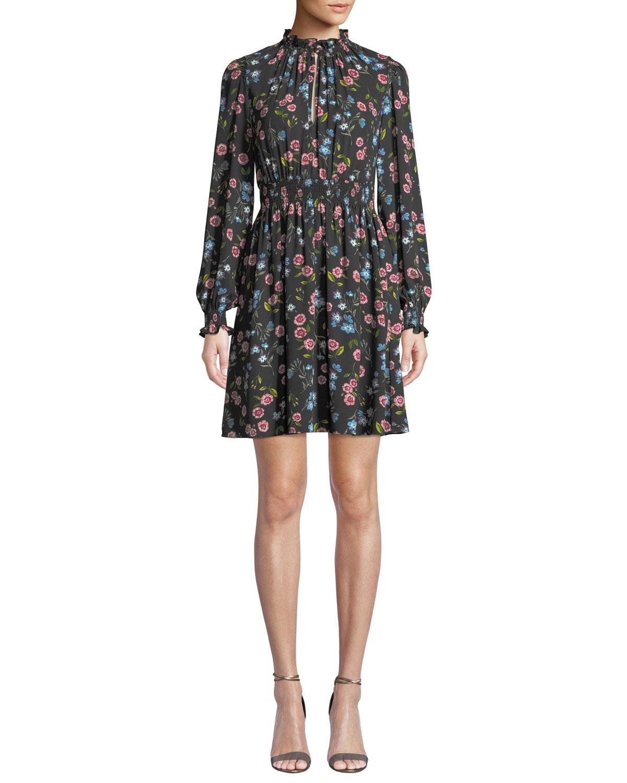 af7565d6f8cf kate spade new york meadow smocked waist mini dress | Neiman Marcus