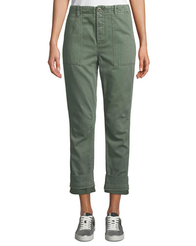 Casbah Cuffed Cropped Cargo Pants