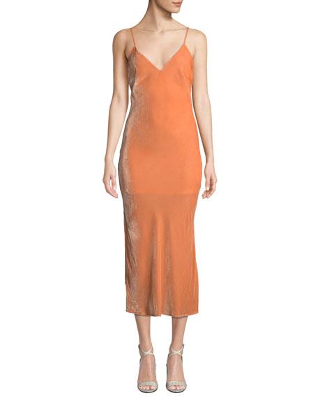 Nomad Velvet Midi-Length Slip Dress