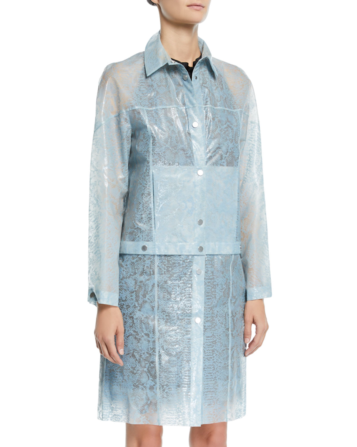 Paskal Reflective Transformer Long Raincoat