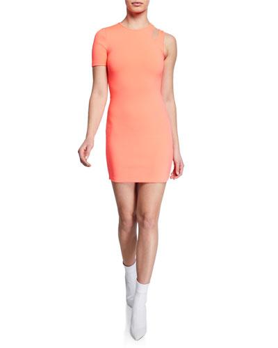 Sleek Asymmetric Mini Dress