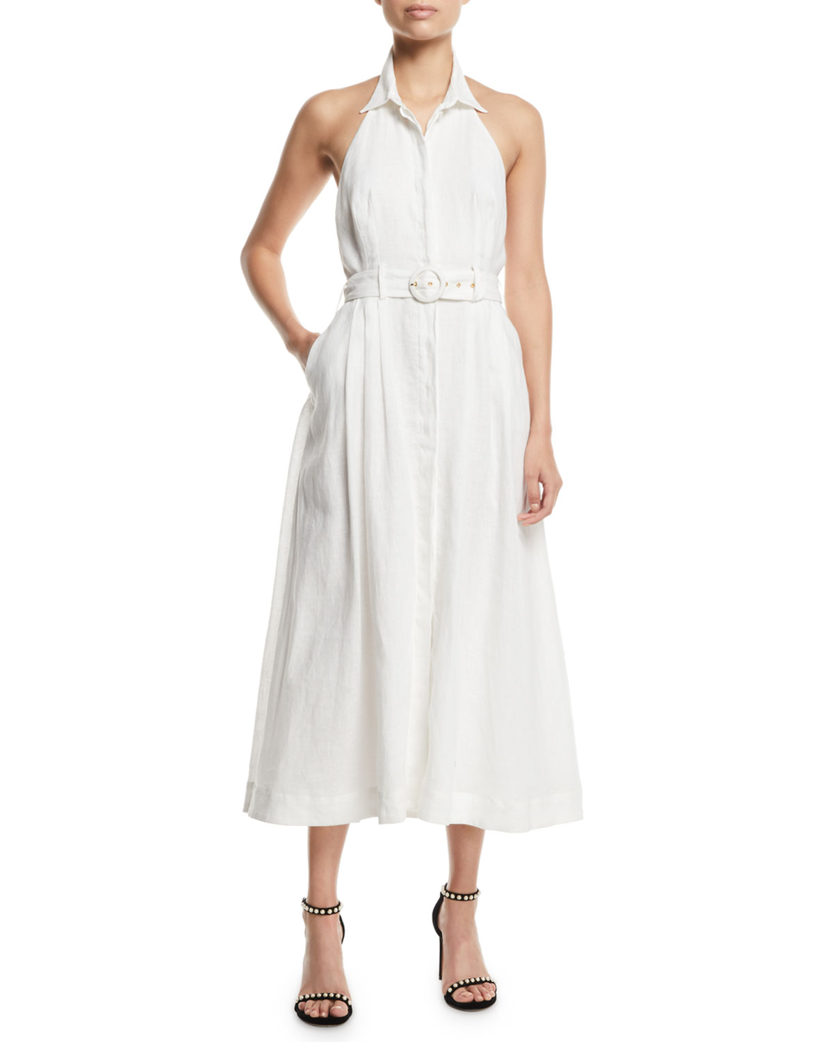 Primrose Belted Halter Midi Dress by Zimmermann