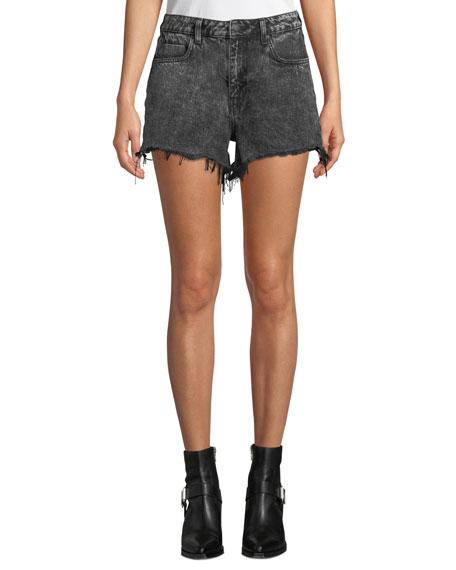alexanderwang.t Bite High-Rise Cutoff Denim Shorts