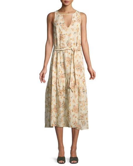 RACHEL PALLY Lana Keyhole Gauze Dress, Plus Size in Butterfly