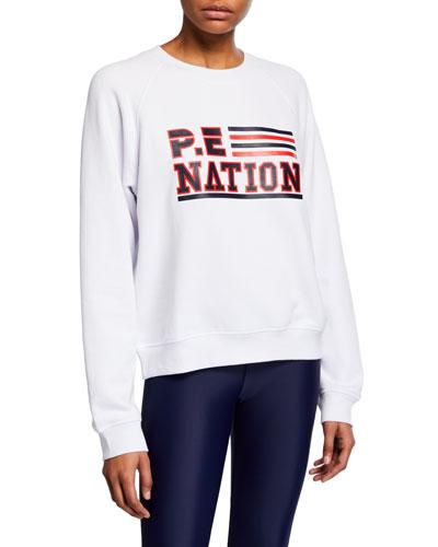 Blacktop Logo Raglan Pullover Sweatshirt