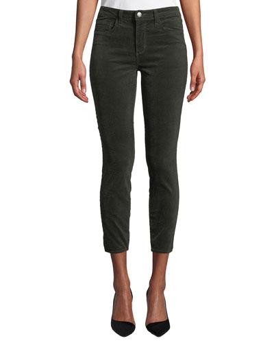 Margot Velvet High-Rise Skinny Ankle Jeans