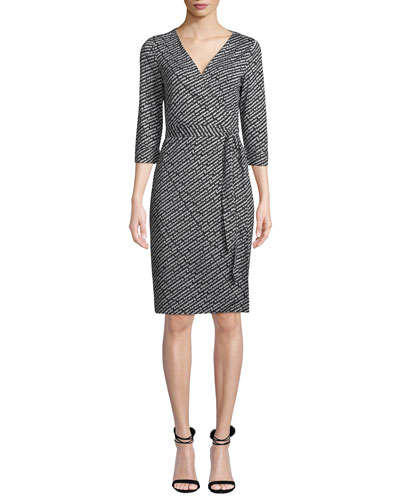 Julian Silk Jersey Logo Wrap Dress