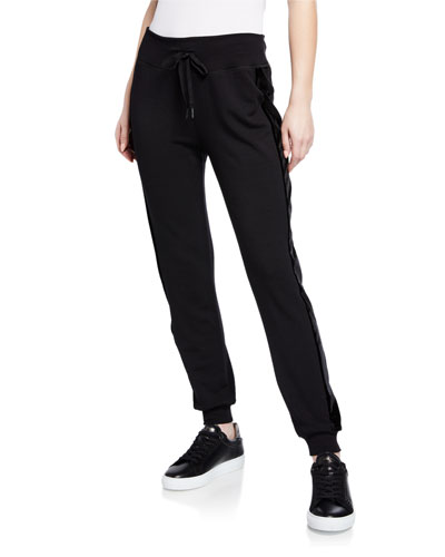 Shine On Tuxedo Jogger Pants w/ Velvet Stripes