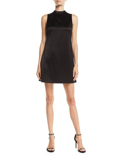 Coley Mock-Neck A-Line Dress
