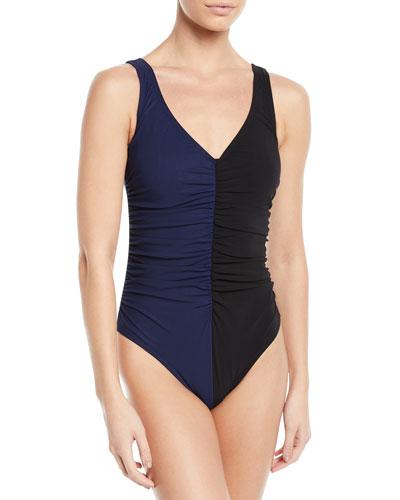 Sorella Two-Tone Underwire One-Piece Swimsuit