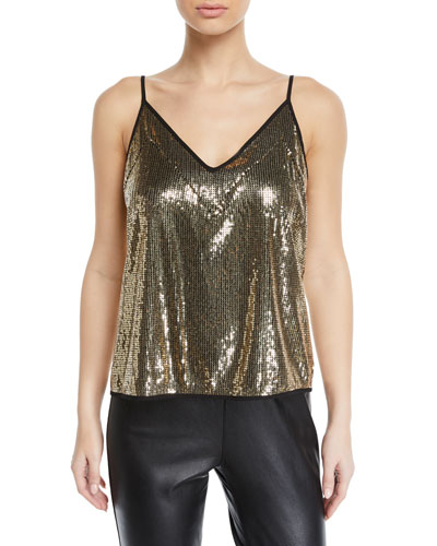 Nora Sequined V-Neck Top