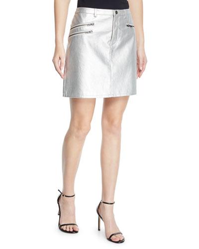 Myrah Metallic Short Skirt