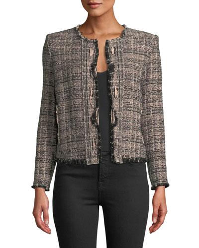 Jocund Collarless Tweed Jacket