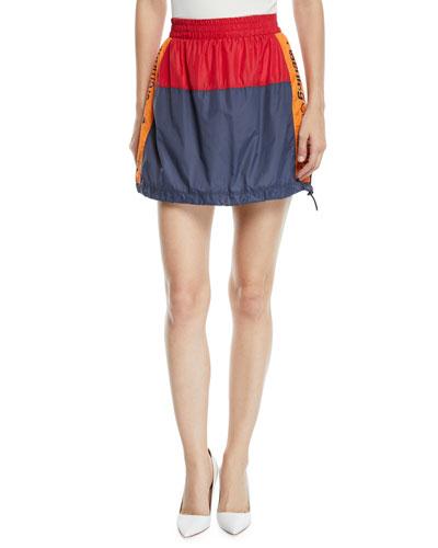 Warm-Up Colorblock Logo Mini Skirt