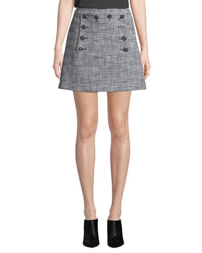 Maida Check Sailor Short Skirt
