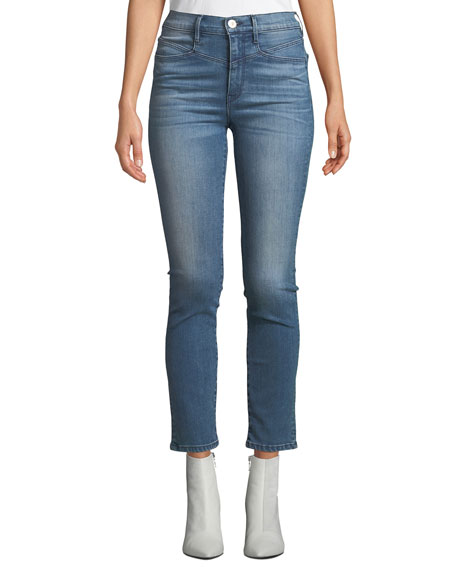 3x1 Jesse High-Rise Straight-Leg Ankle Jeans