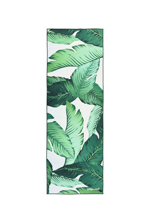 Yoga Zeal Banana Leaf Printed Yoga Towel