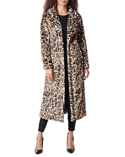 Maven Leopard Faux Fur Maxi Coat