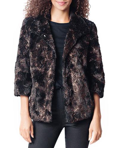 Gilded Faux Fur Jacket