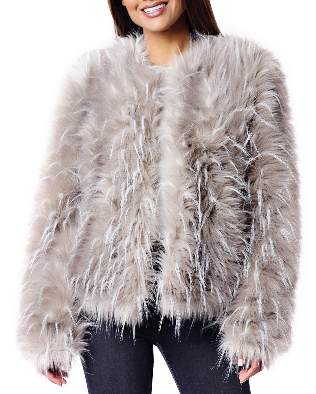 25bd632ddbde Fabulous Furs Ostrich Faux Fur Coat