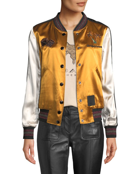 Coach Reversible Viper Room Embroidered Souvenir Jacket