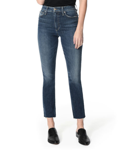 Joe's Jeans The Milla Cut Hem High-Rise Straight-Leg