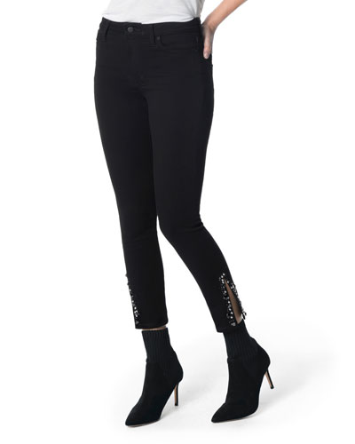 The Charlie High-Rise Embellished Skinny Jeans