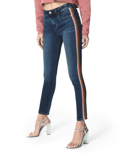 The Charlie Side-Stripe Ankle Skinny Jeans