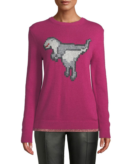 Coach Pixel Rexy Graphic Wool-Cashmere Sweater