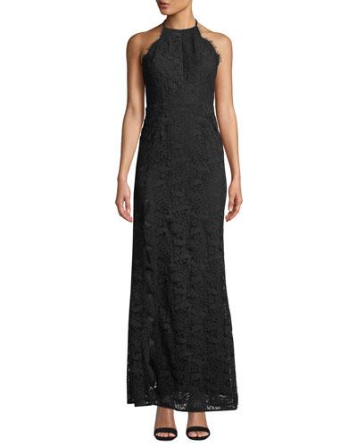 Melanie Tie-Back Lace Maxi Dress