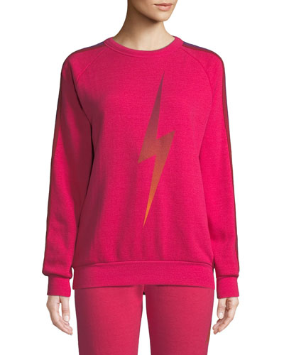 Bolt Fade Side-Stripe Pullover Sweatshirt