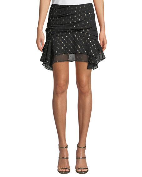 CAMILLA AND MARC Jasmeen Draped Silk Mini Skirt