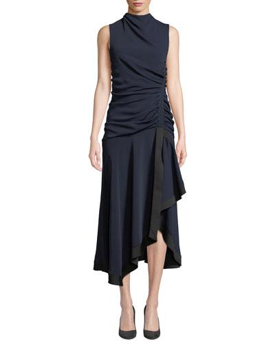 Yolanda Sleeveless Draped & Ruched Dress