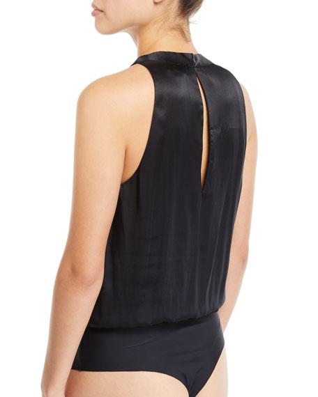 Jordana Embellished Silk Bodysuit