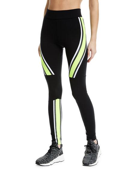 NO KA'OI Kanawai Koa Sporty Colorblock Leggings in Multi Pattern