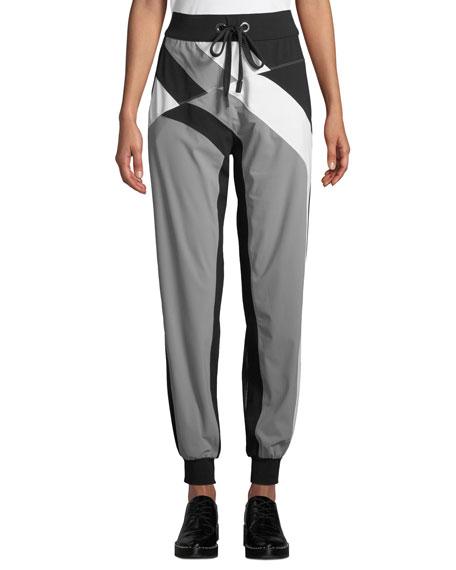 NO KA'OI Pana Colorblock Drawstring Jogger Pants in Multi Pattern